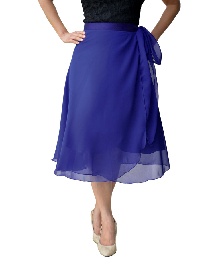DeeVineeTi Women's Skirt Georgette Blue Solid Beach Wrap Around Skirt WA000105 Freesize