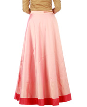 DeeVineeTi Women's Taffeta Silk Pink Solid Lehenga Style Maxi Wrap-Around Skirt WA000185 Freesize Ethnic Full-Circle Back