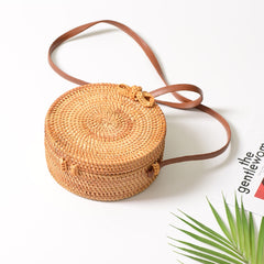 Straw Rattan Crossbody Bag