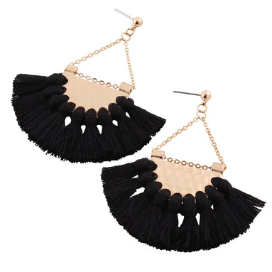 Boho Tassel Fringe Dangle Earrings