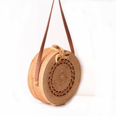 Straw Rattan Crossbody Bag V2