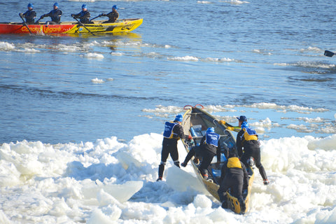 ice canoeing St Lawrence River