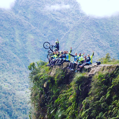 mountain biking Bolivia Yungas Road
