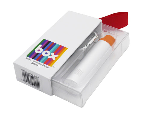 Box Pocket Portable charger - Orange