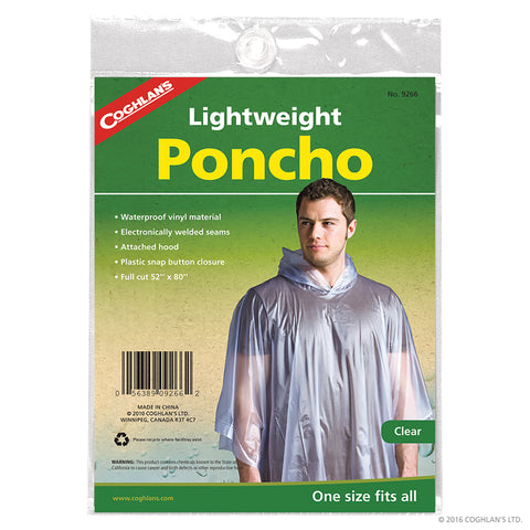 Lightweight Emergency Poncho