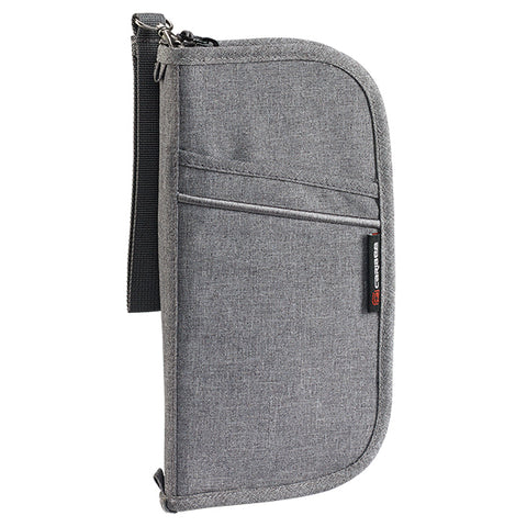 Caribee Travel Document Wallet - Charcoal Distress