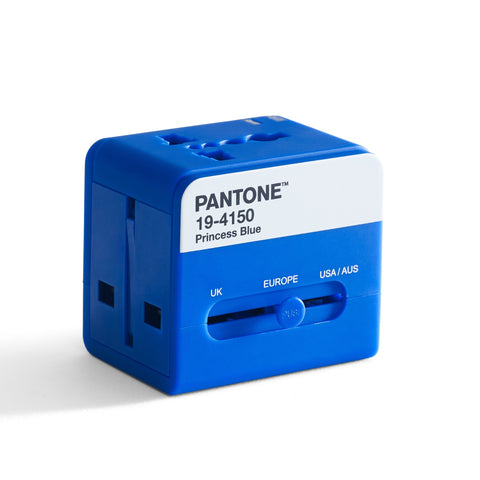 Pantone Worldwide Travel Adaptor - Blue