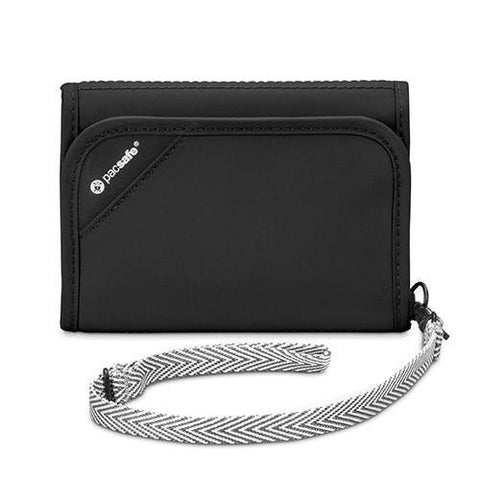 Pacsafe V125 Anti-theft Tri-fold Travel Wallet with RFID, Black