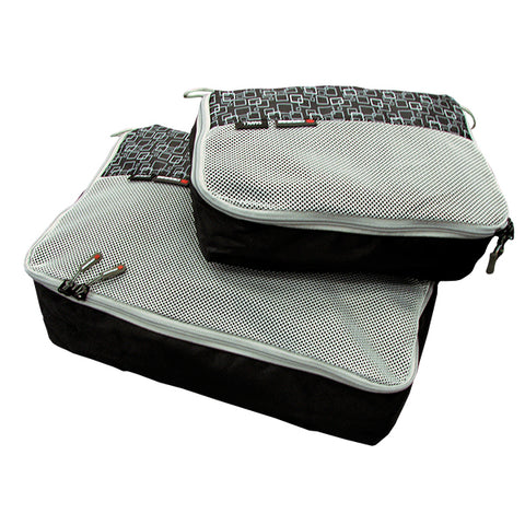 Caribee Packing Cubes 2 Pack - Black