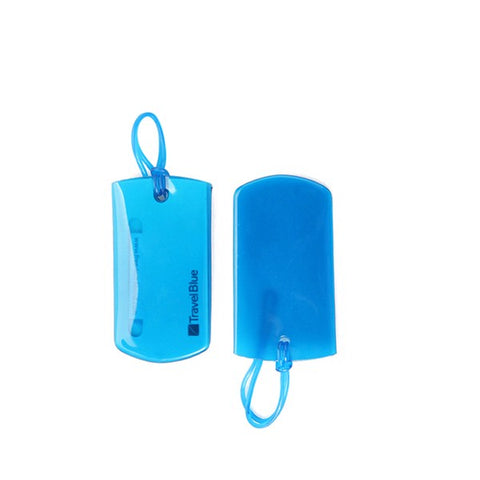 Jelly Luggage Tag Twin Pack Blue