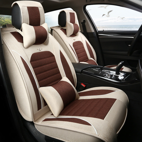 Linen Car Seats Four Seasons All Arround Seat Covers Universal