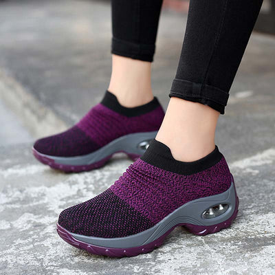 Women Comfort Sneakers Athletic Platform Slip On Shoes