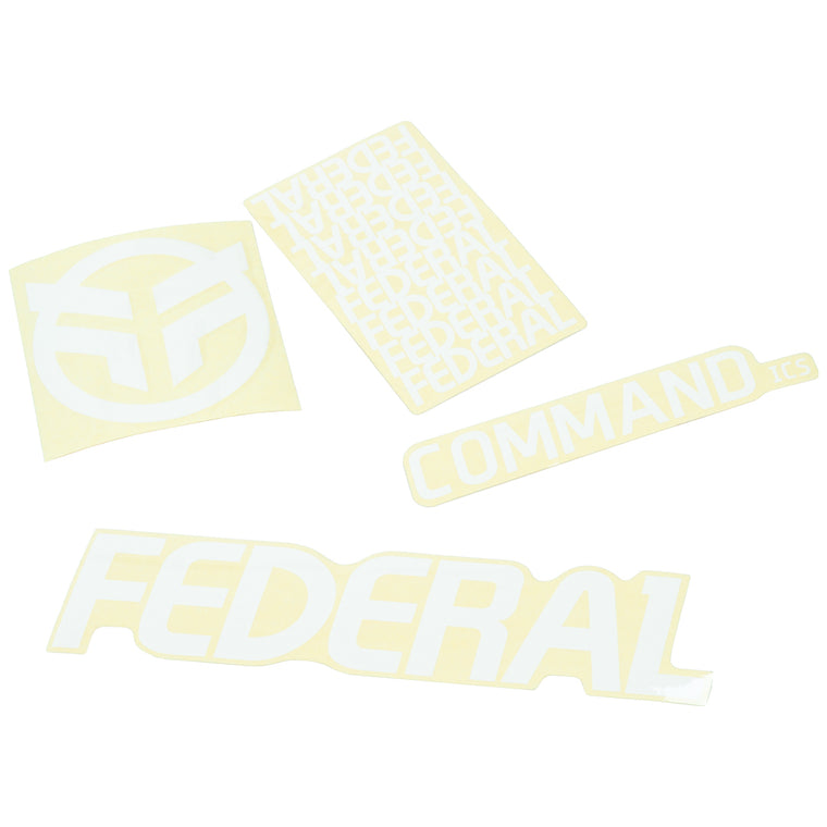 Federal Command ICS Frame Sticker Set - White