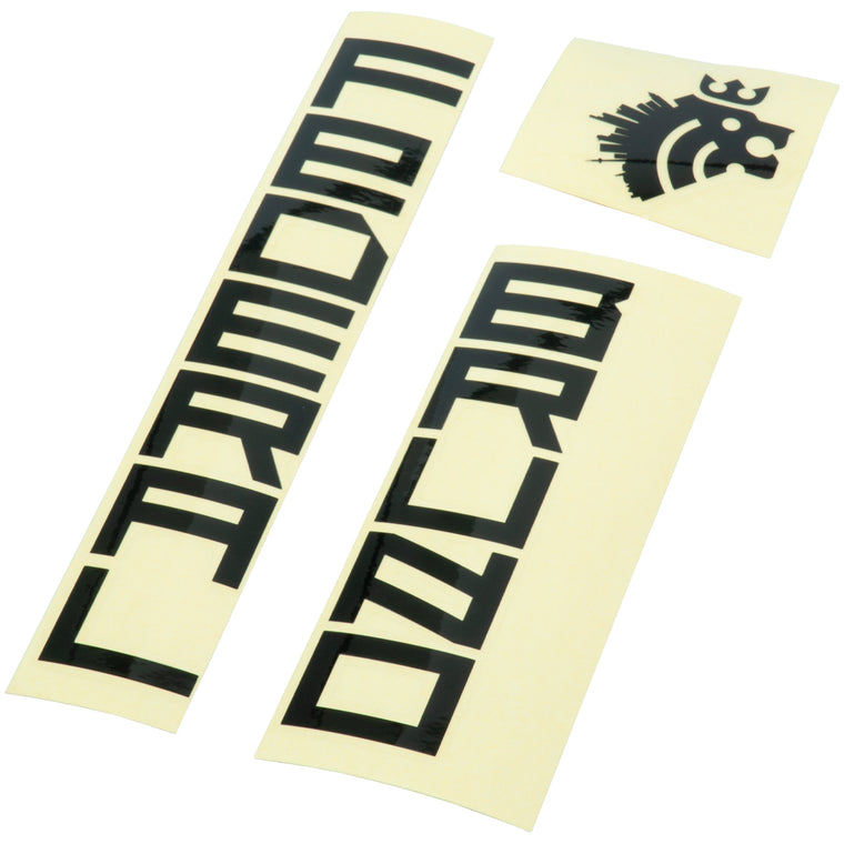 Federal Bruno 3 Frame Sticker Set - Black
