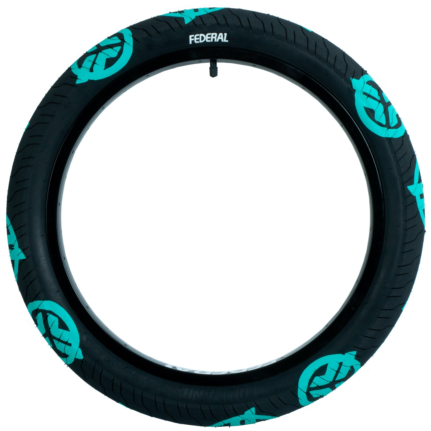 Federal Command LP Tyre - Black With Teal Logos 2.40"