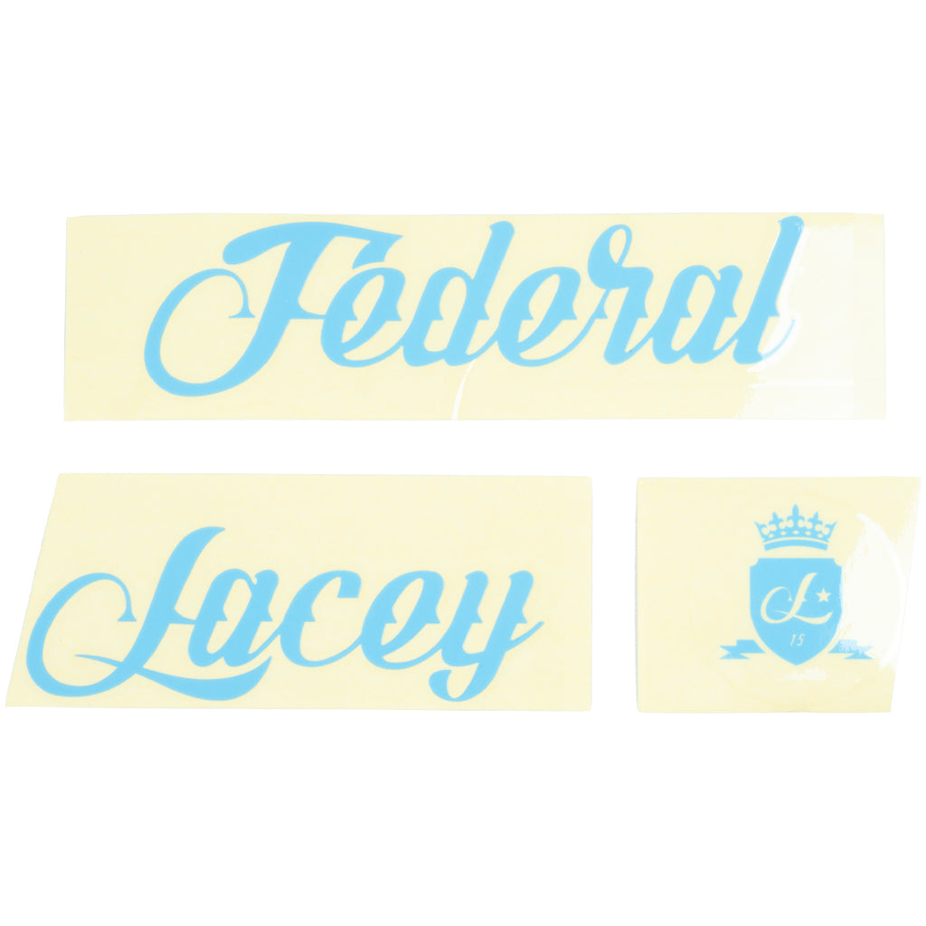 Federal Lacey 3 Frame Sticker Set - Blue | BMX