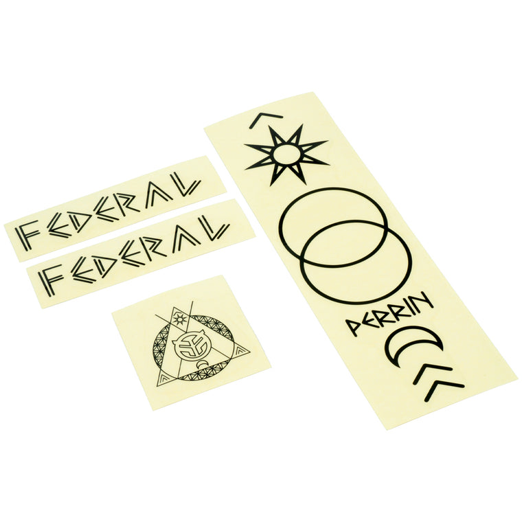 Federal Perrin ICS2 Frame Sticker Set - Black