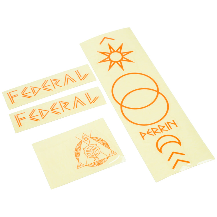Federal Perrin ISC2 Frame Sticker Set - Orange