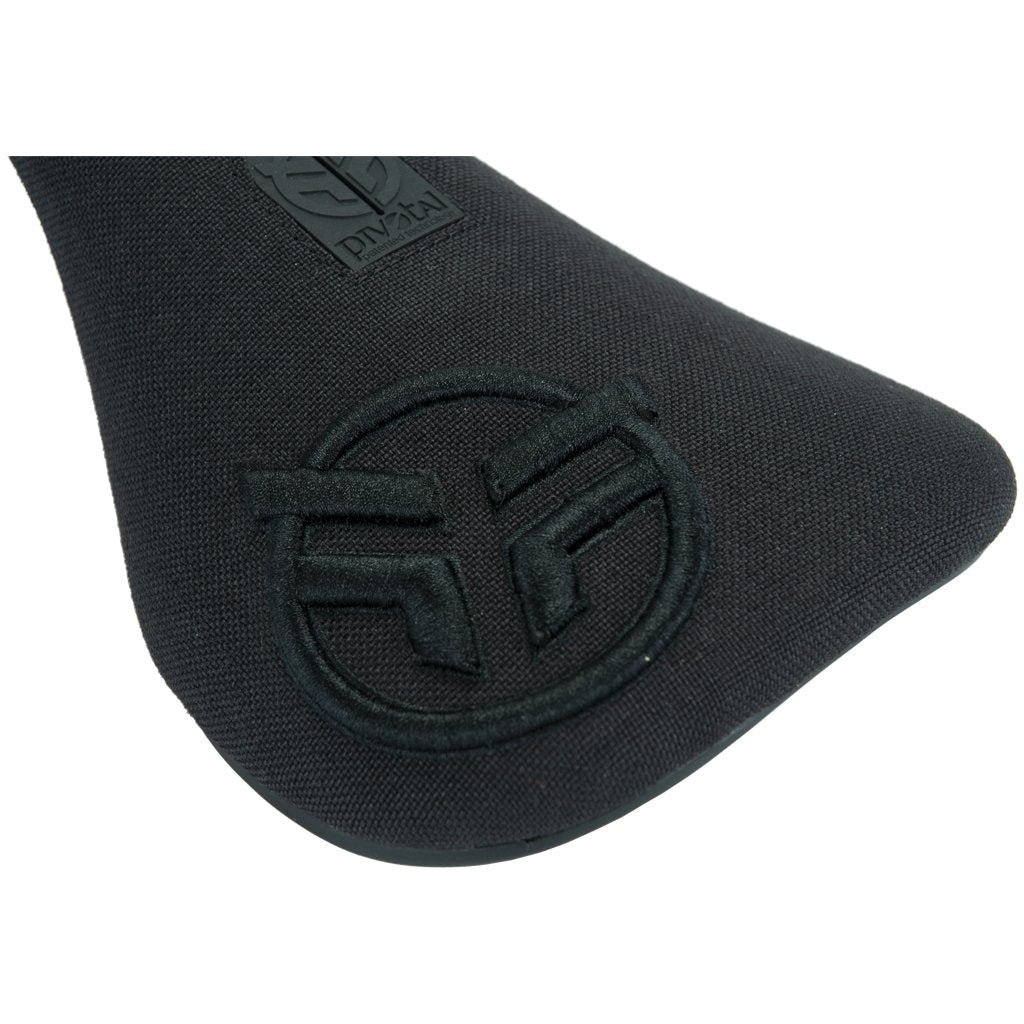 Federal Slim Pivotal Logo Seat - Black With Raised Black Stitching | BMX