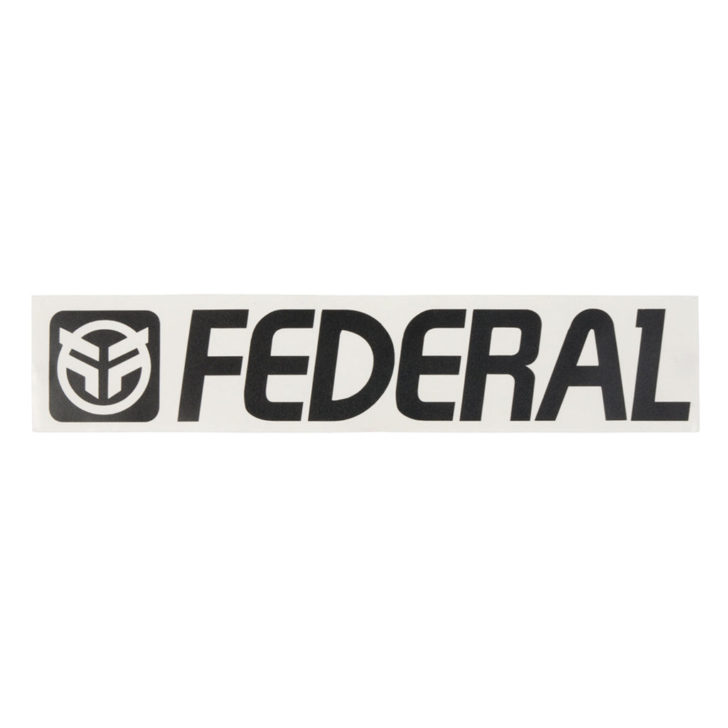 Federal 170mm Die Cut Sticker - Black | BMX