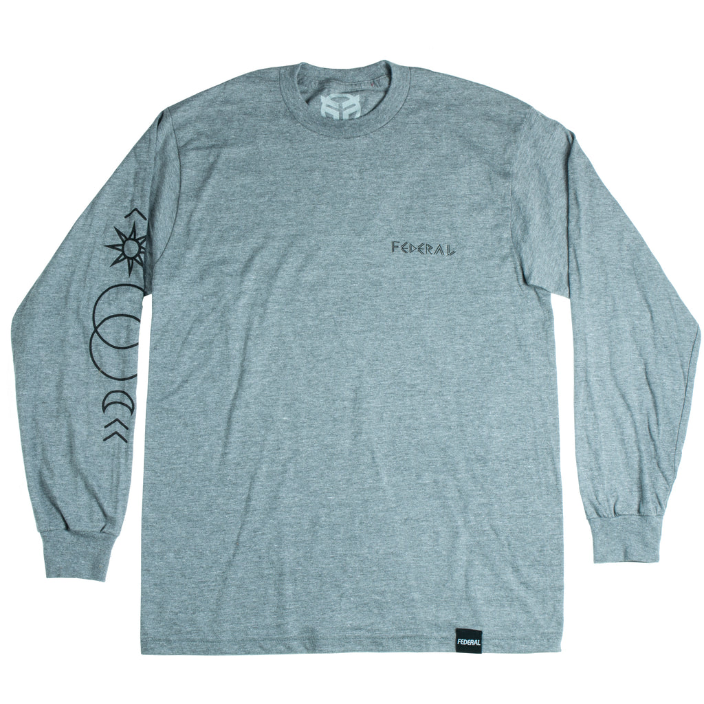Federal Perrin L/S T-Shirt - Graphite Grey | BMX