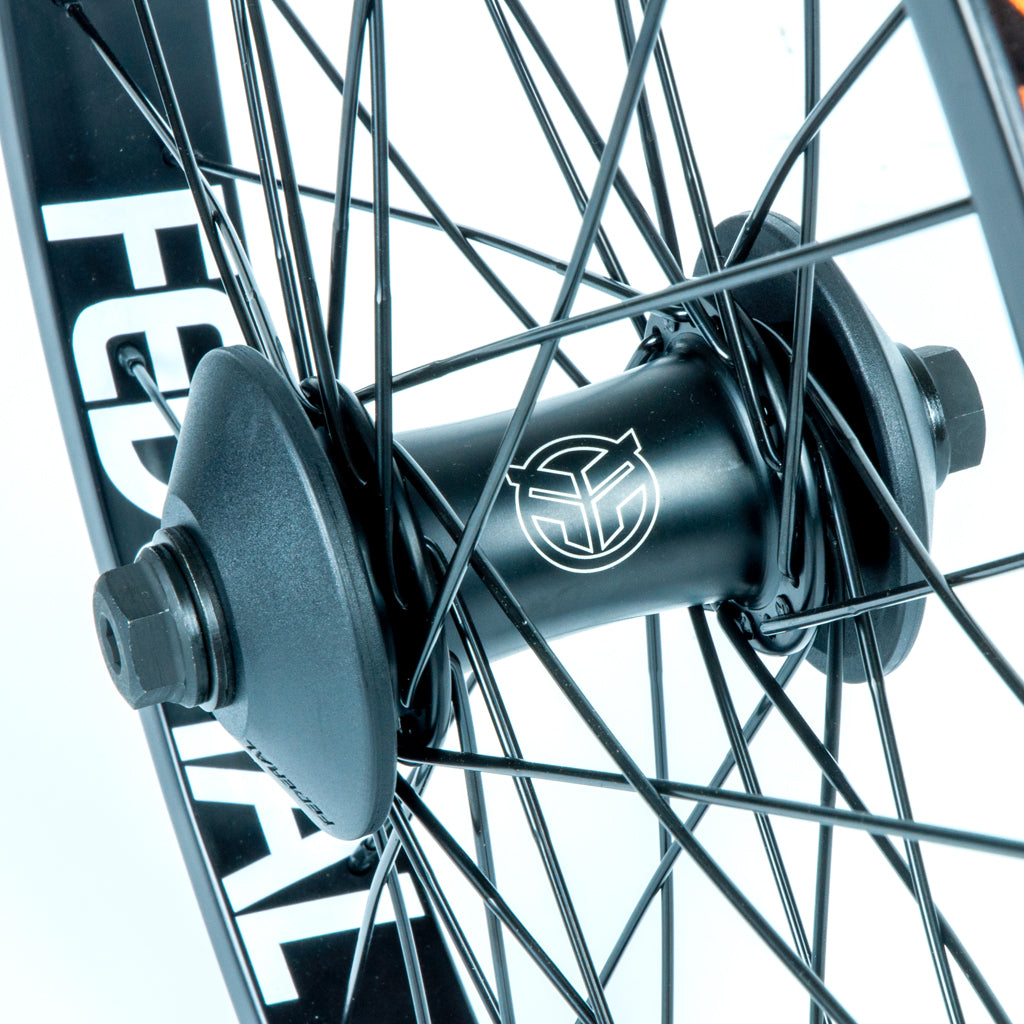 Federal Stance Pro Front Wheel With Guards And Butted Spokes - Black 10mm | BMX