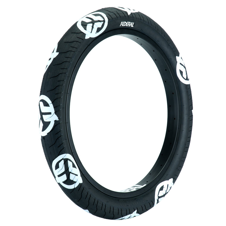 Federal Command LP Tyre - Black With White Logos 2.40