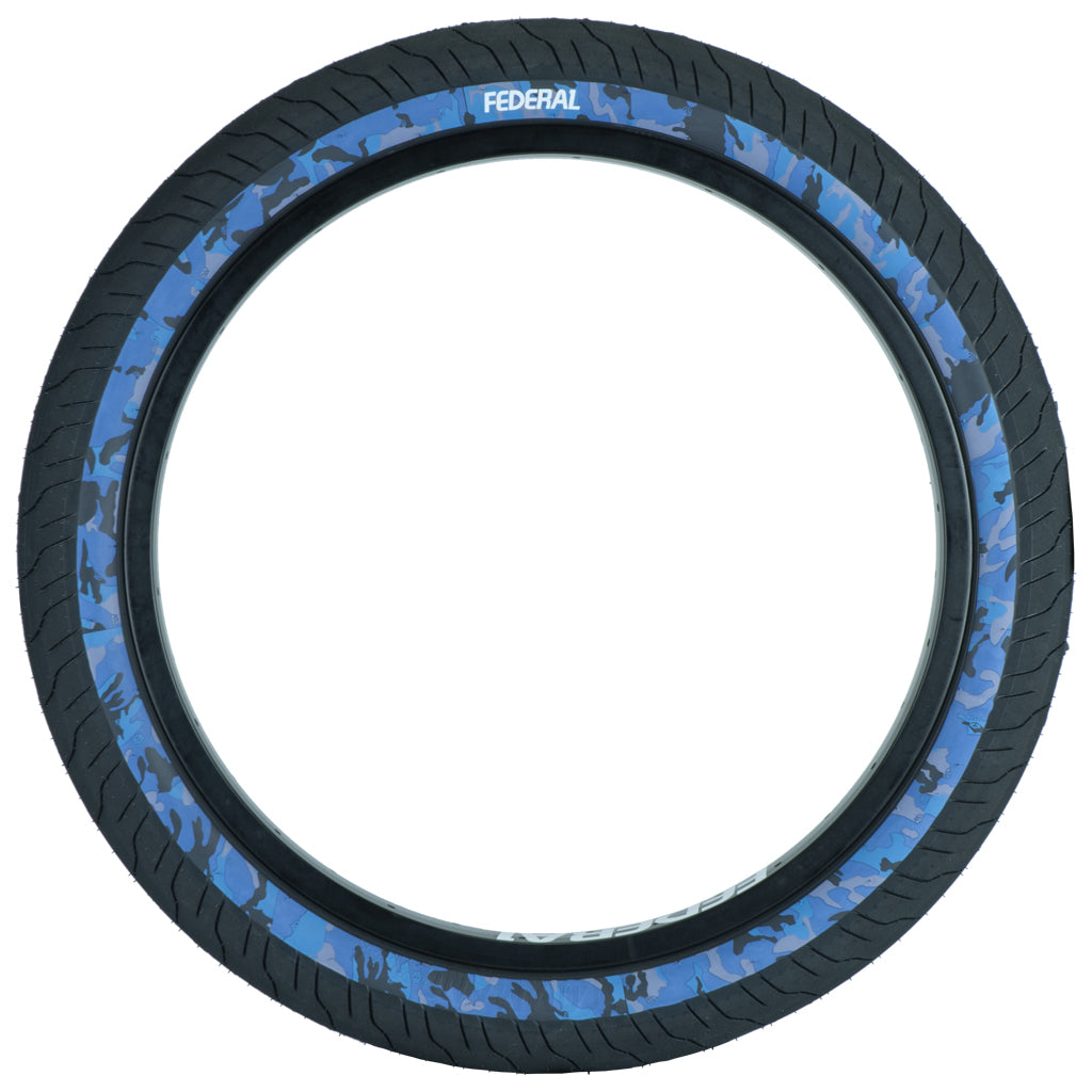 Federal Command LP Tyre - Black With Blue Camo Sidewall 2.40""