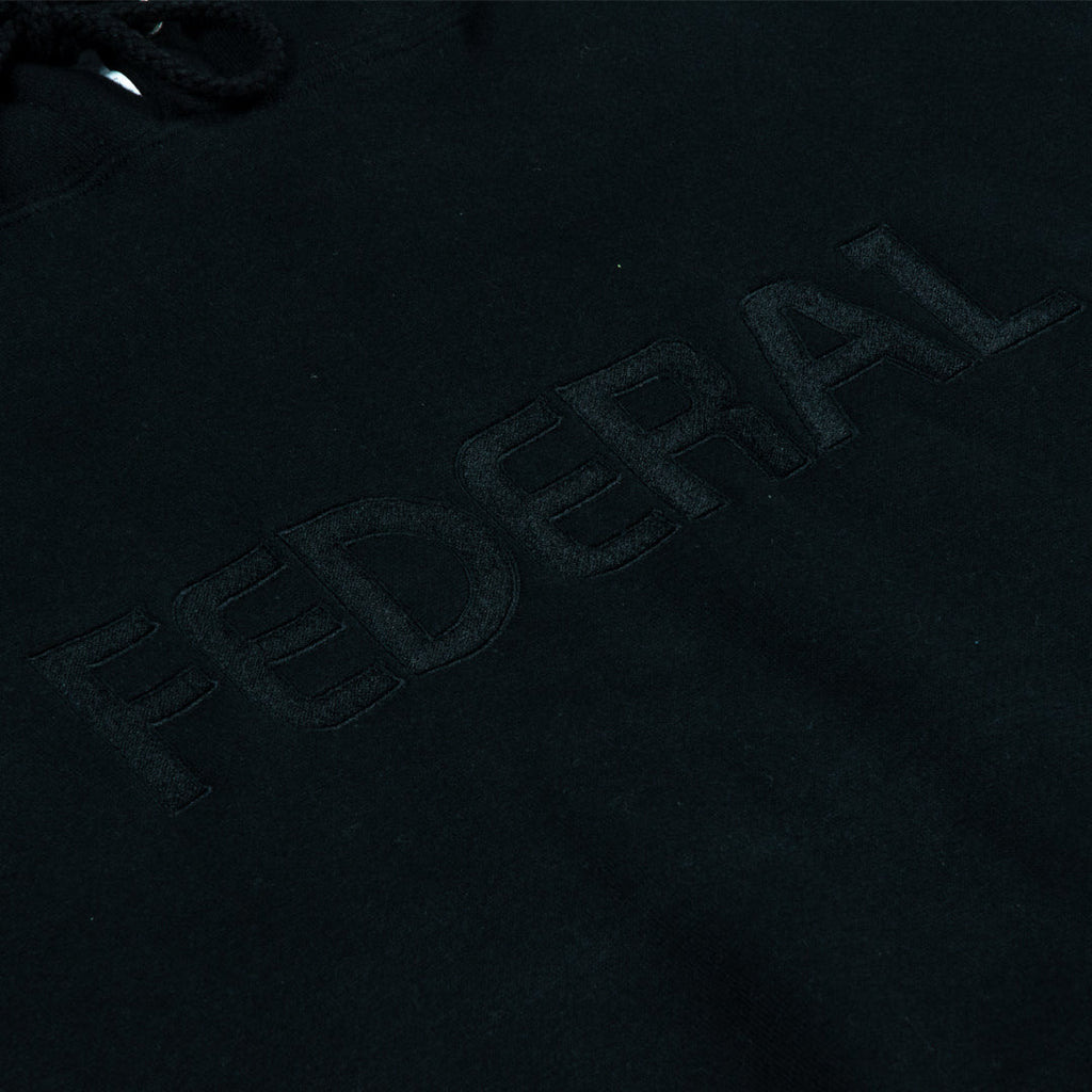 Federal Embroidered Hoodie - Black