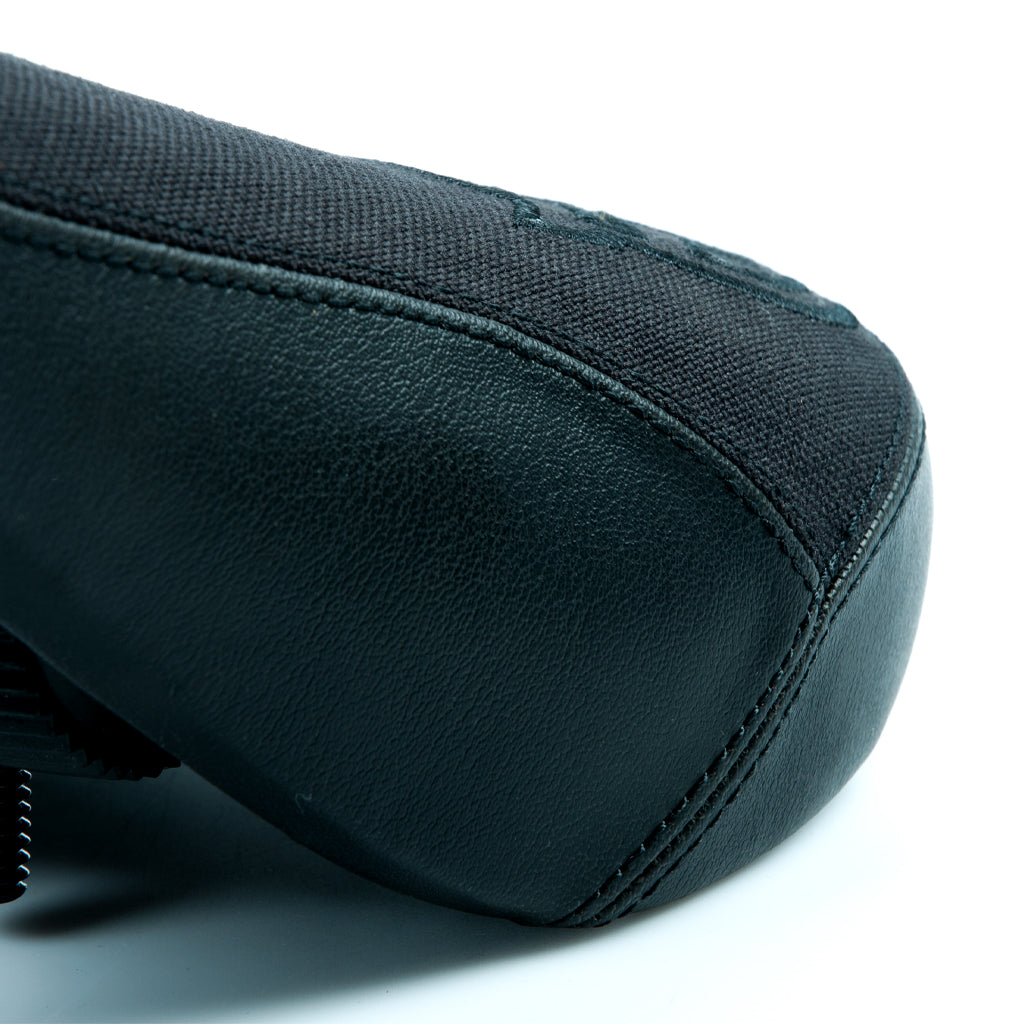 Federal Mid Stealth Logo Seat - Black Canvas Top With Faux Leather Panels And Black Embroidery