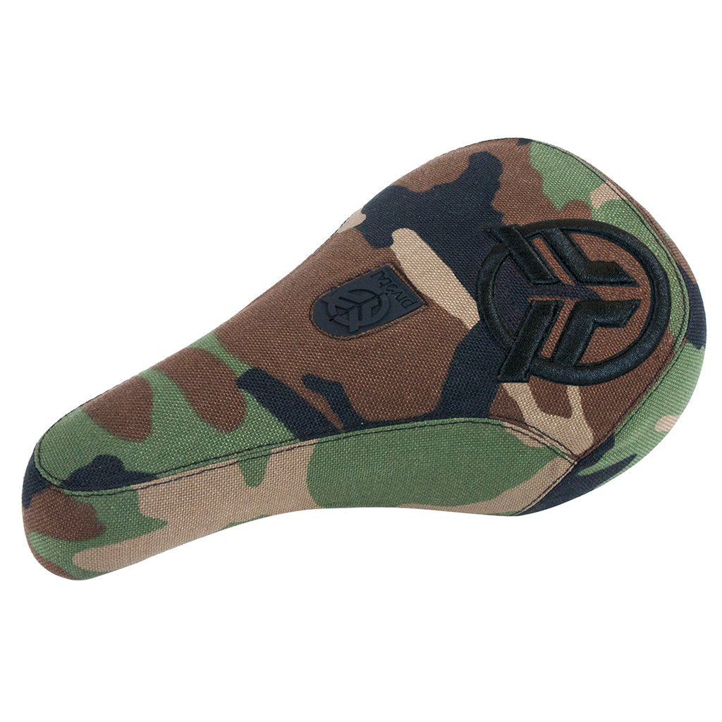 Federal Mid Pivotal Logo Seat - Camo With Camo Base And Raised Black Embroidery | BMX