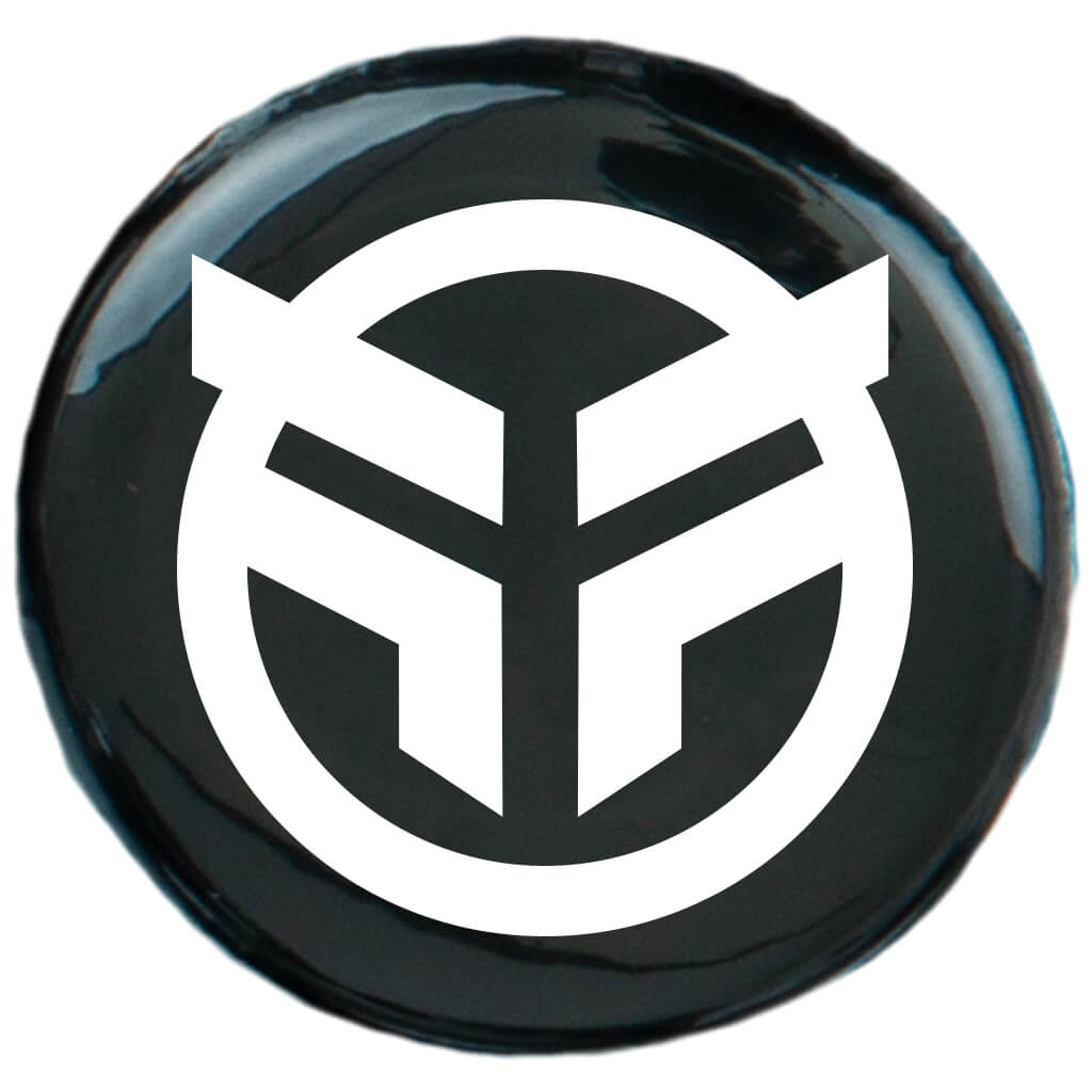 Federal Logo Pin Badge - single black 25mm badge | BMX