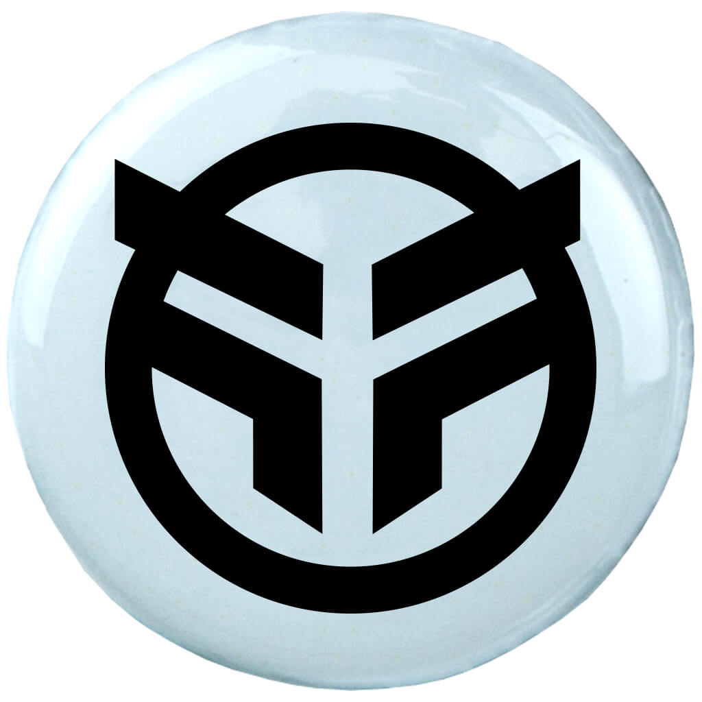 Federal Logo Pin Badge - White | BMX