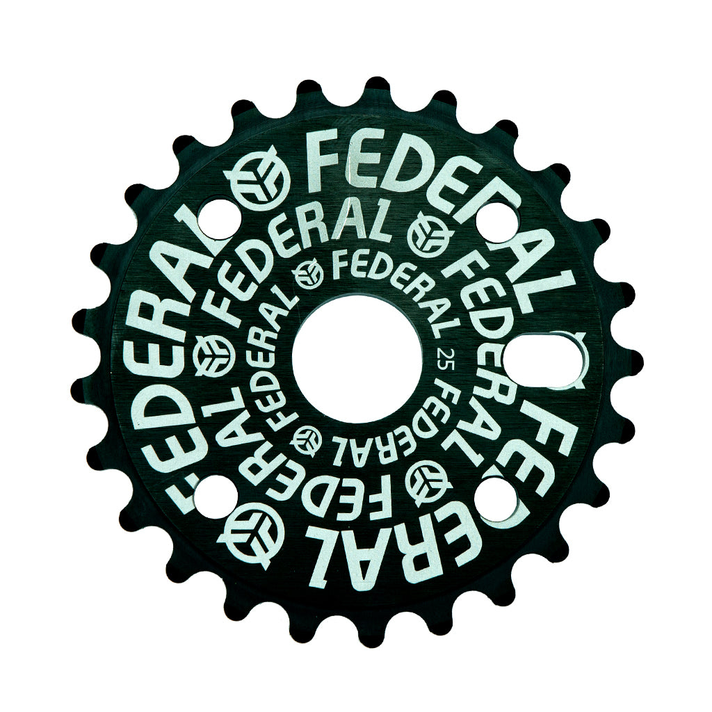 Federal Logo Solid Sprocket - Black