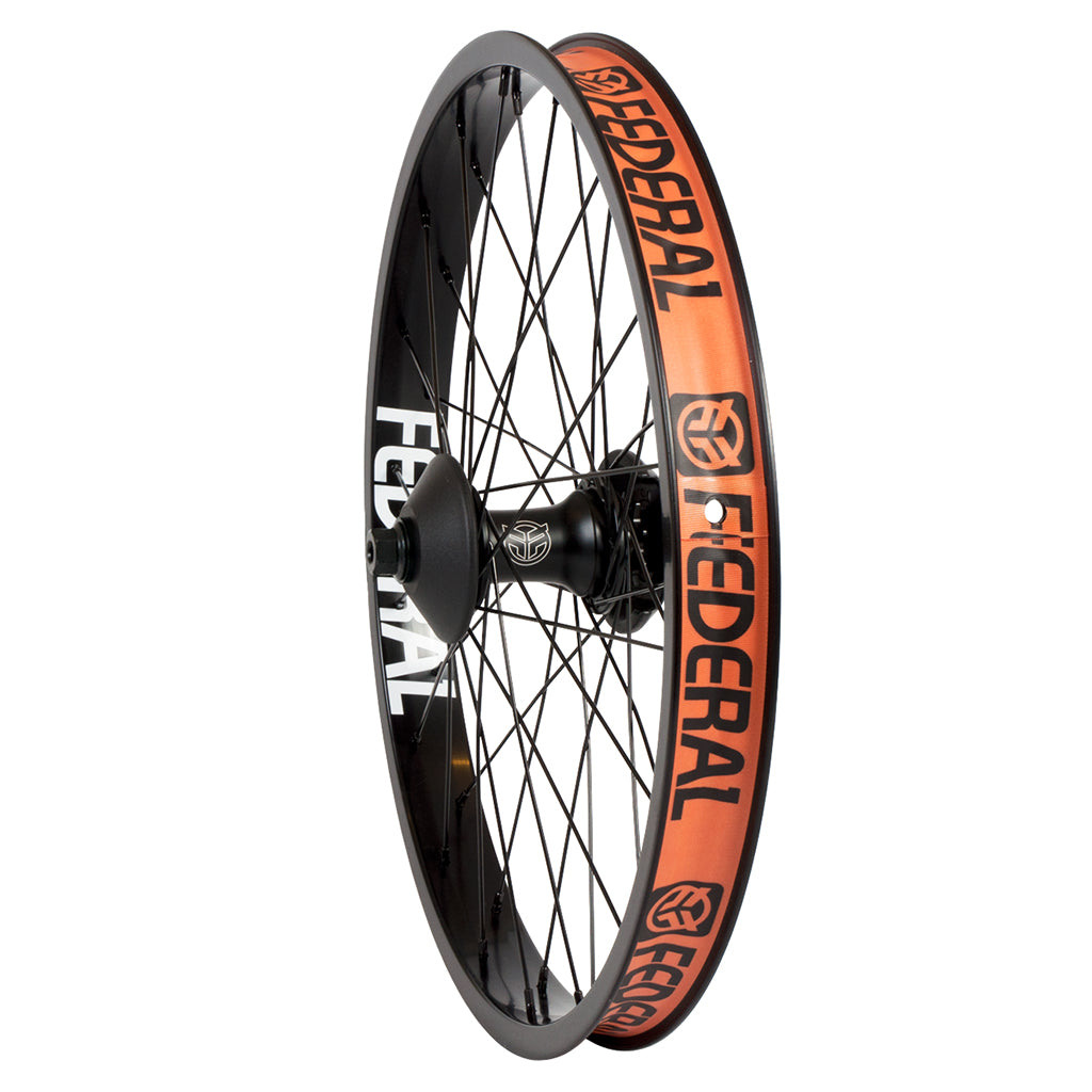 Federal RHD Female Stance Cassette Rear Wheel With Guards And Butted Spokes - Black 9 Tooth | BMX