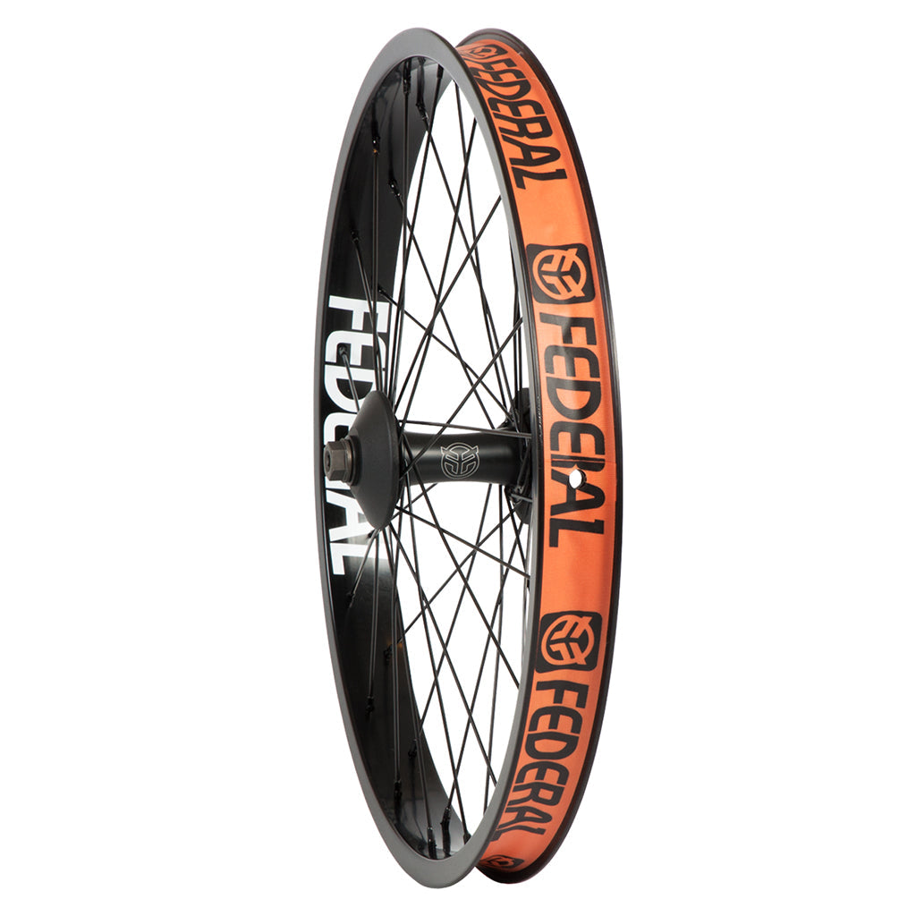 Federal Stance Front Wheel With Guards And Butted Spokes - Black 10mm | BMX