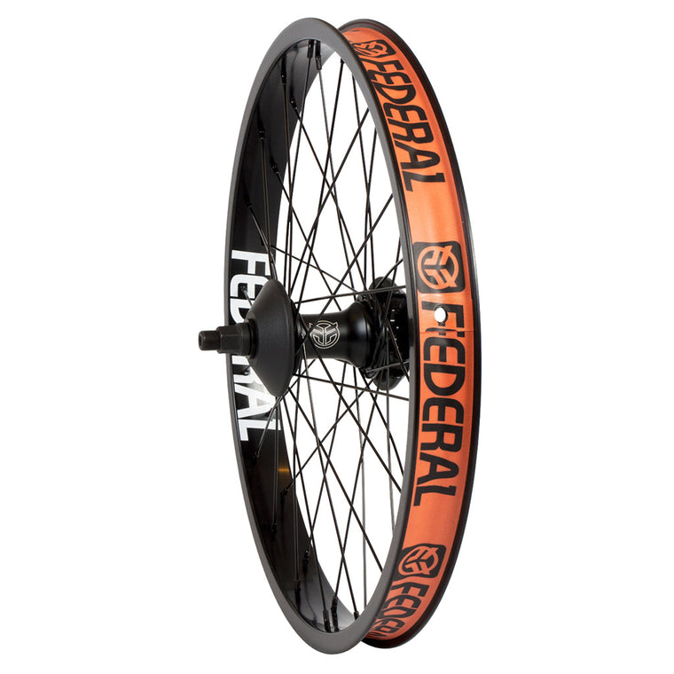 Federal LHD Stance Cassette Rear Wheel With Guards And Butted Spokes - Black 9 Tooth