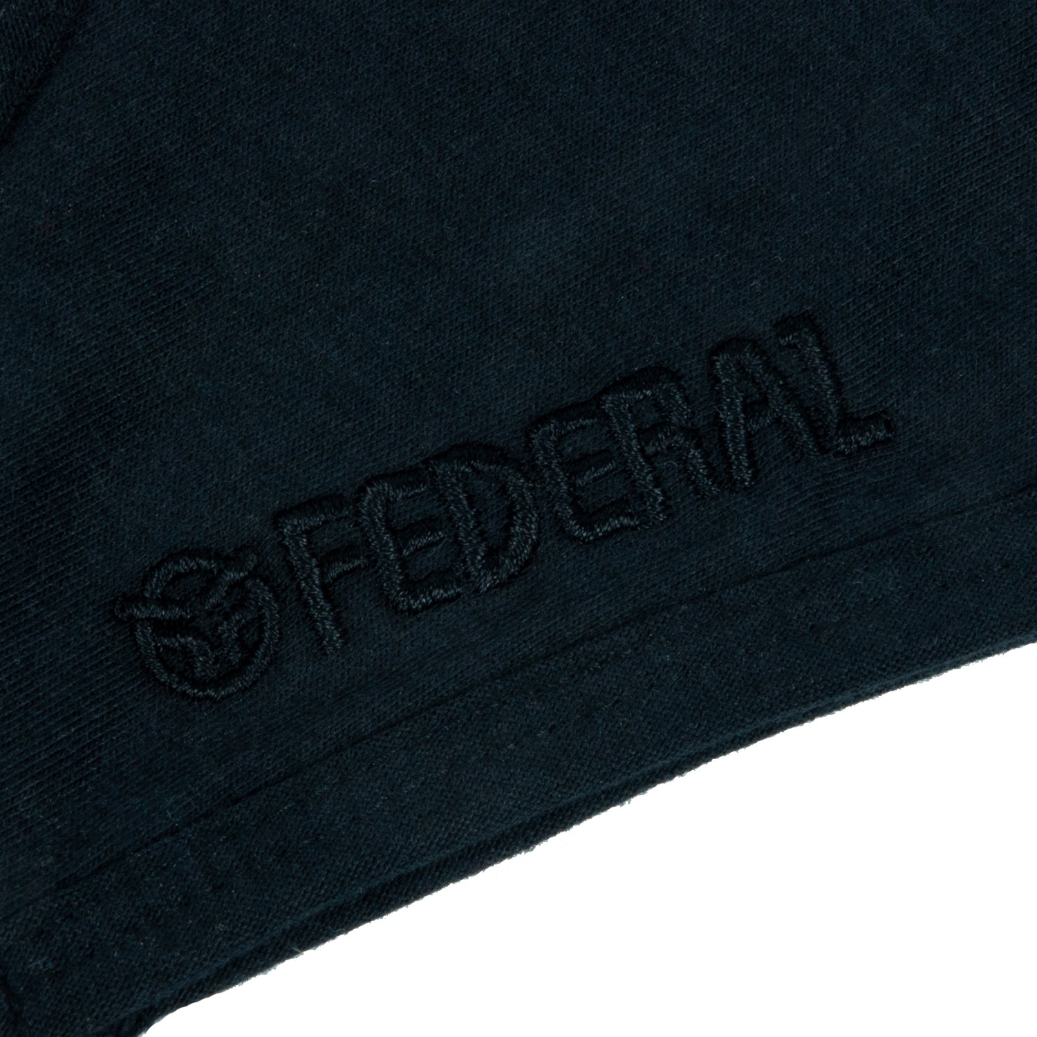 Federal Embroidered Mask - Black With Black Embroidery | BMX