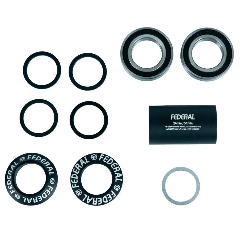 Federal V2 Mid Bottom Bracket - Black