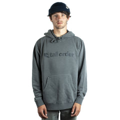 Tall Order Font Hoodie - Pigment Dyed Black | BMX