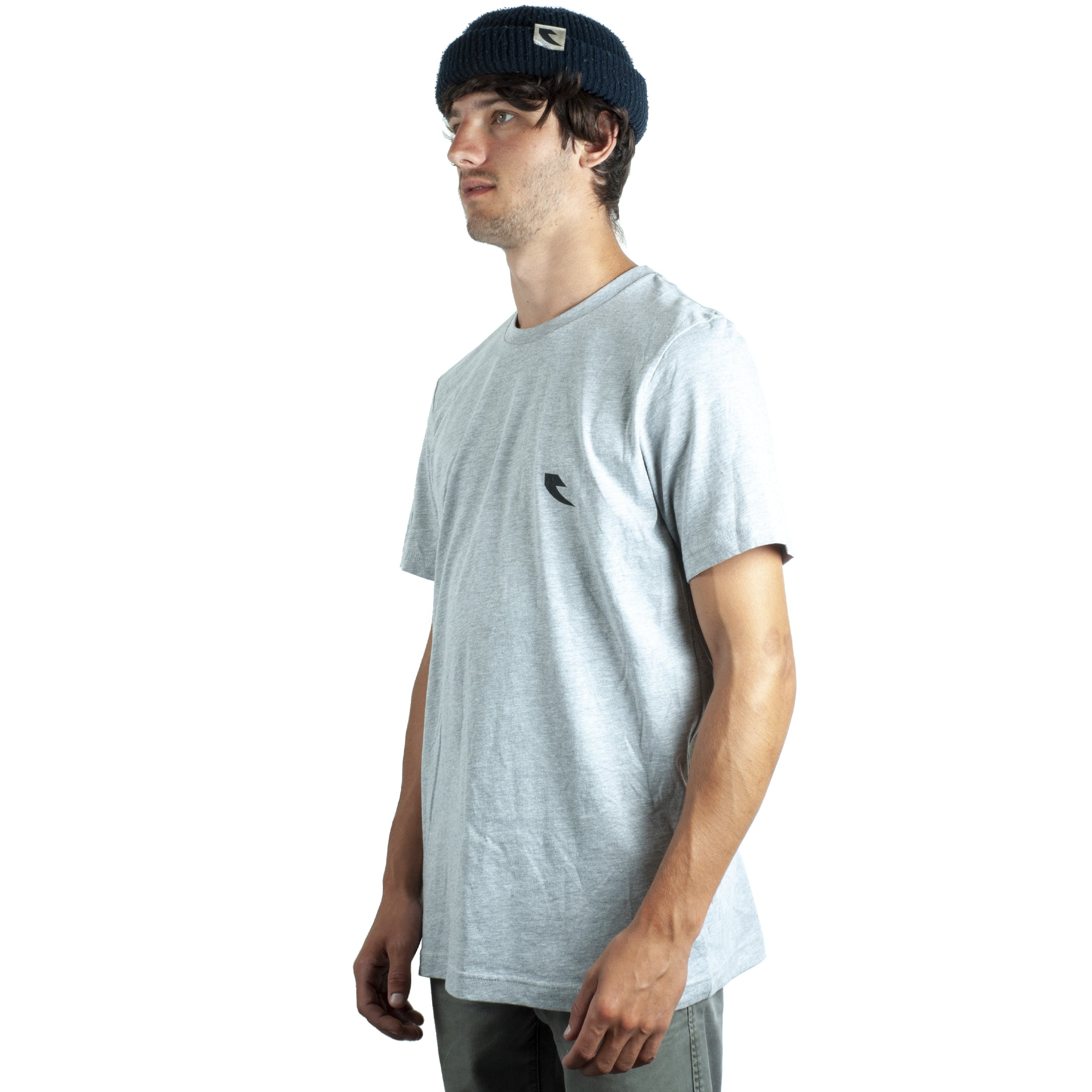 Tall Order Square Logo T-Shirt - Grey With Black Print | BMX