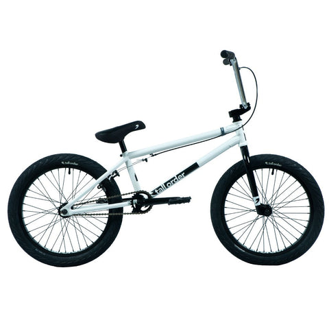 Tall Order Pro Bike - Gloss White With Chrome Bars 20.85""