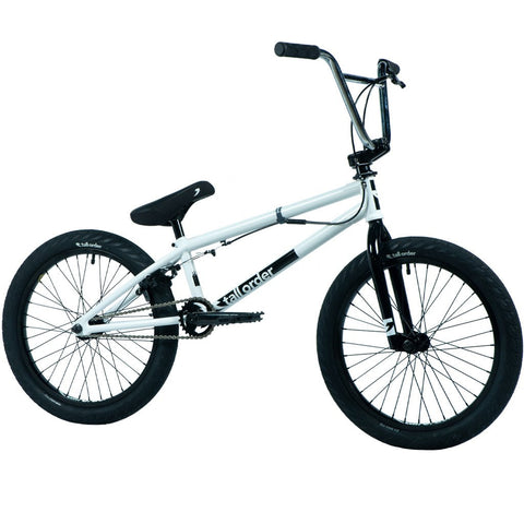 Tall Order Pro Park Bike - Gloss White With Chrome Bars 20.6"