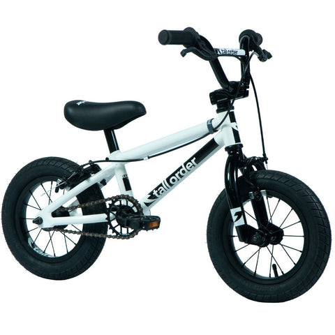 "Tall Order Small Order 12"" Bike - Gloss White With Black Parts 12.5"" 