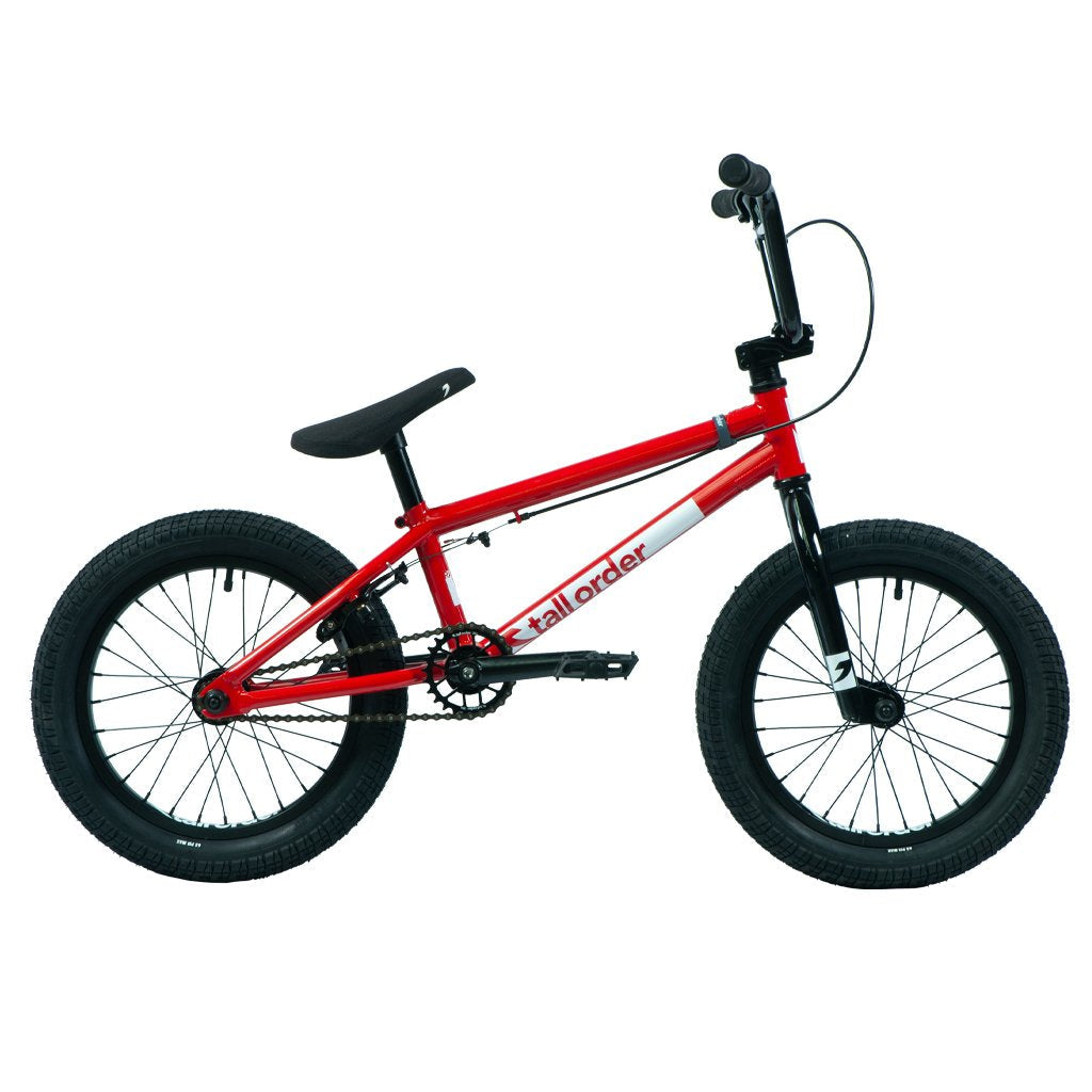 "Tall Order Ramp 16"" Bike - Gloss Red With Black Parts 16.5"" 