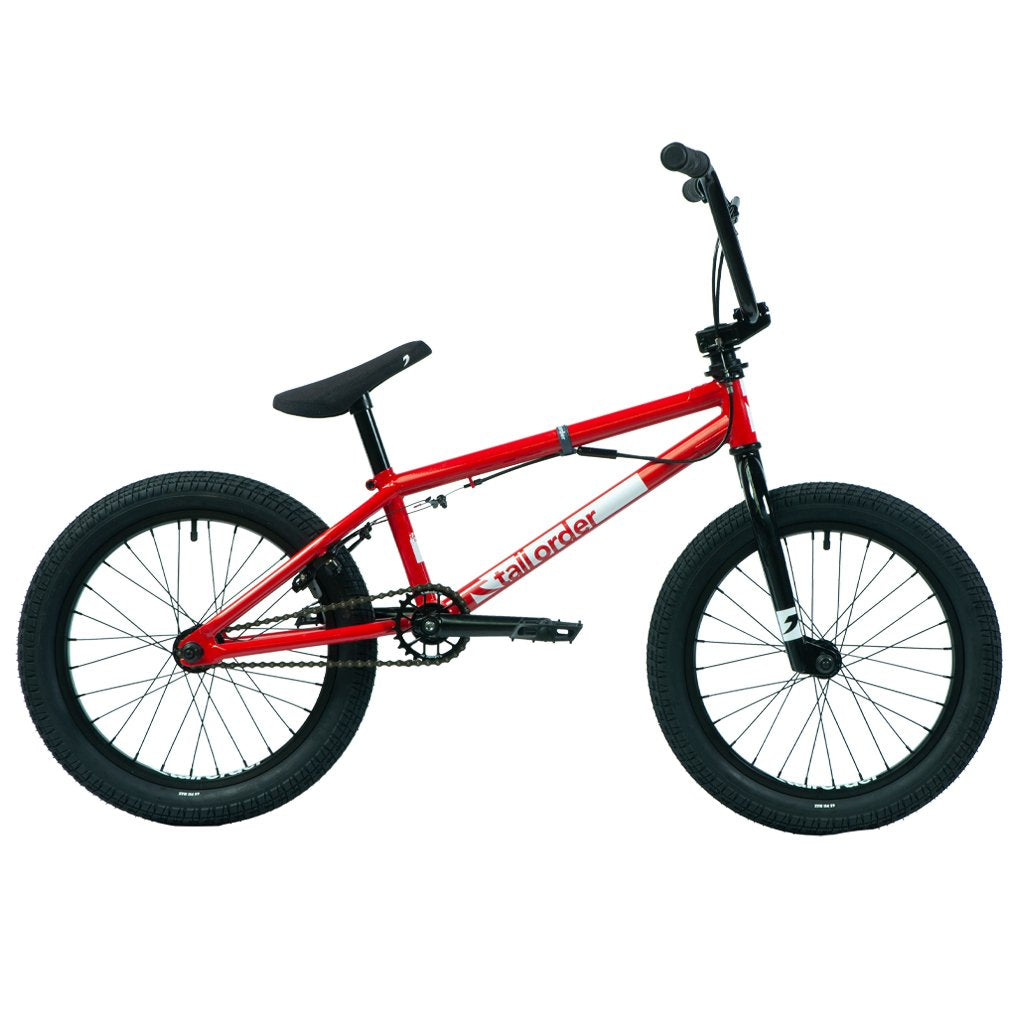 "Tall Order Ramp 18"" Bike - Gloss Red With Black Parts 18.5"" 