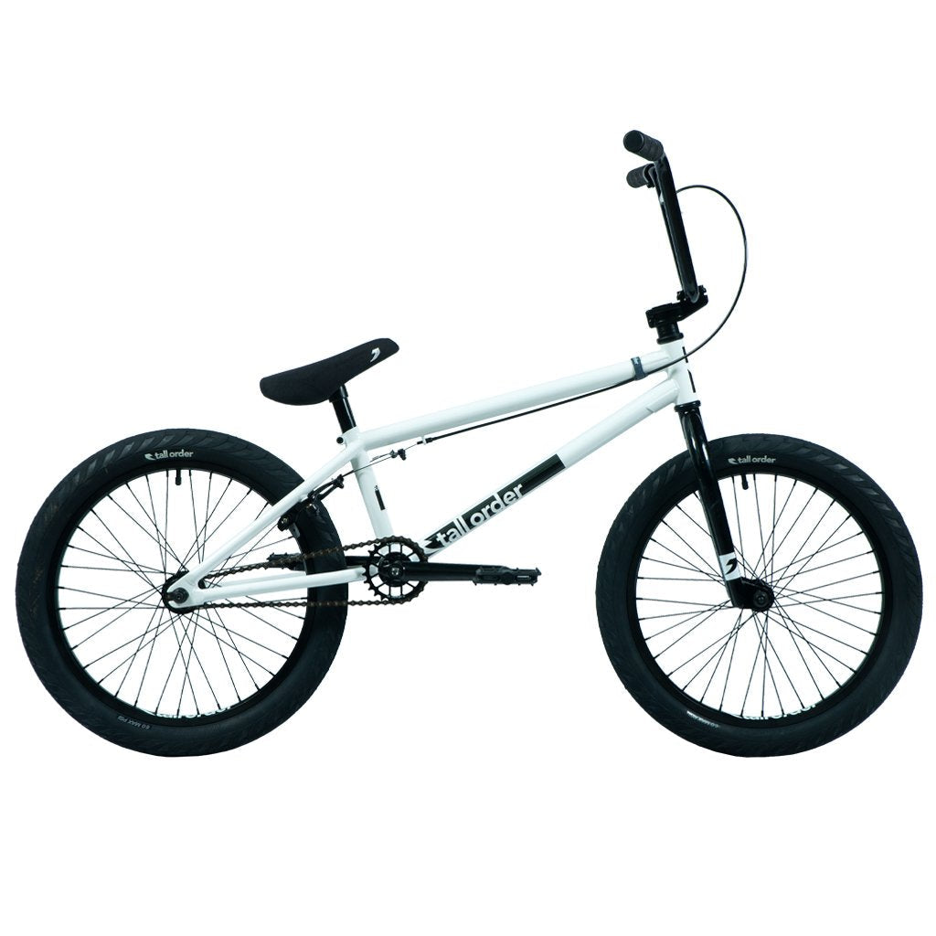 Tall Order Ramp Large Bike - Gloss White With Black Parts 20.8"