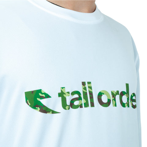 Tall Order Font Breathe-Tech Long Sleeve T-Shirt - White With Camo Print | BMX