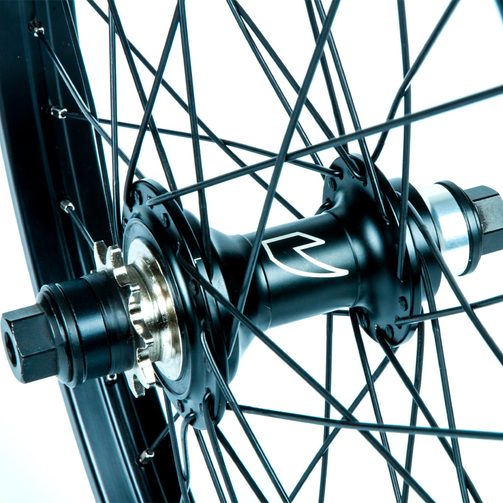 Tall Order Dynamics RHD Cassette Wheel - Black With Silver Spoke Nipples 9 Tooth | BMX
