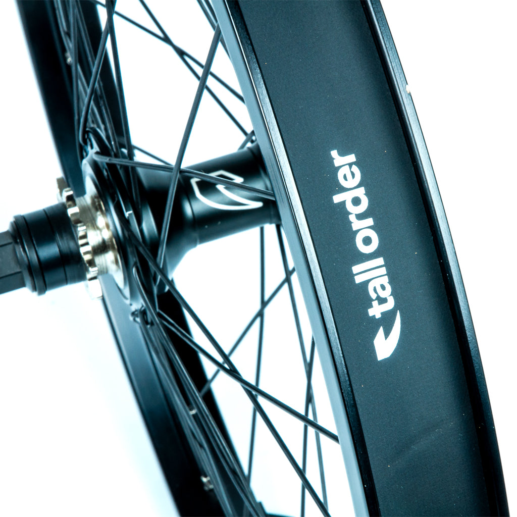 Tall Order Dynamics LHD Cassette Wheel - Black With Silver Spoke Nipples 9 Tooth | BMX
